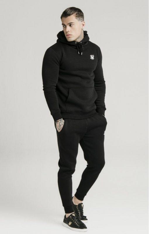 siksilk muscle fit overhead hoodie black p3755 32423 medium
