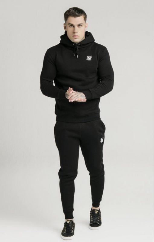siksilk muscle fit overhead hoodie black p3755 32424 medium