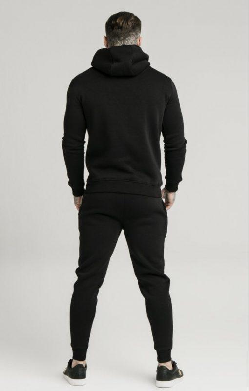 siksilk muscle fit overhead hoodie black p3755 32425 medium