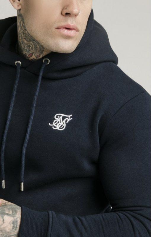 siksilk muscle fit overhead hoodie navy p3759 32454 medium