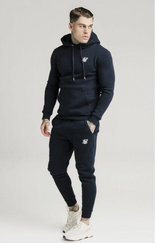 siksilk muscle fit overhead hoodie navy p3759 32455 medium