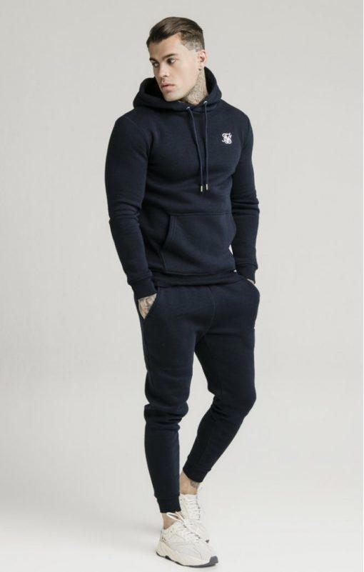 siksilk muscle fit overhead hoodie navy p3759 32456 medium