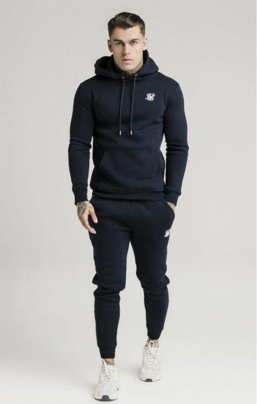 siksilk muscle fit overhead hoodie navy p3759 32457 medium