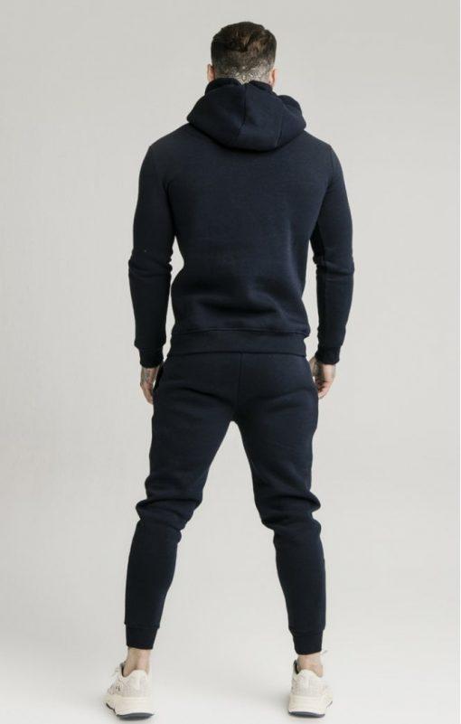 siksilk muscle fit overhead hoodie navy p3759 32458 medium