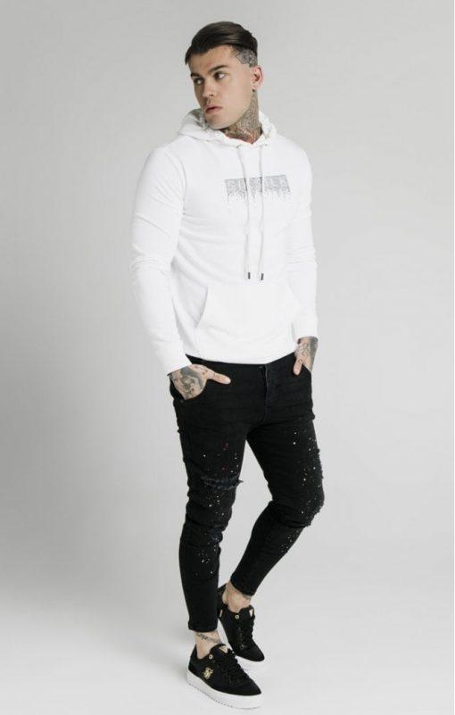 siksilk rhinestone creep overhead hoodie white p5519 54527 medium