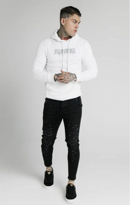siksilk rhinestone creep overhead hoodie white p5519 54528 medium