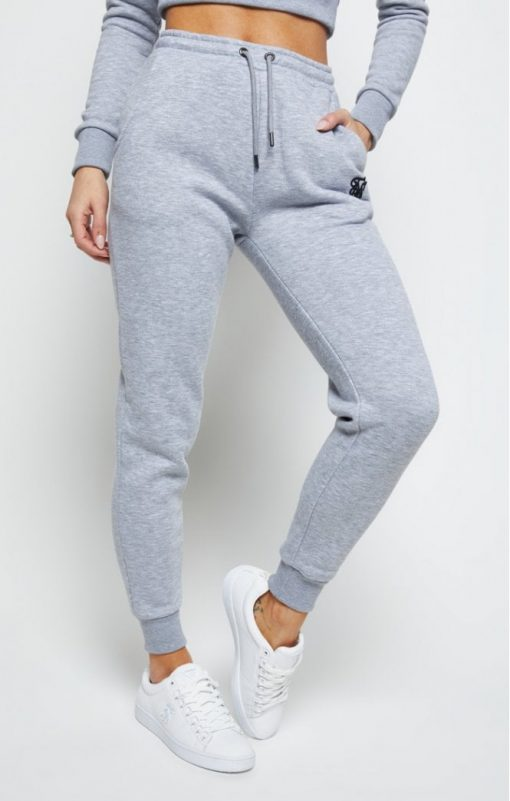 siksilk track pants grey marl p5562 55103 medium