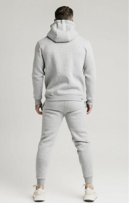 siksilk zip through funnel neck hoodie grey marl p3753 32413 medium